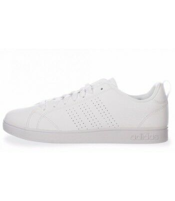 sports shoes 32009 6e1d4 Adidas neo Advantage Clean B74685 Sneakers Pelle Bianco Modello Stan Smith  colle