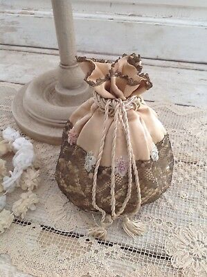 Antique 1920's French Silk Reticule Bag