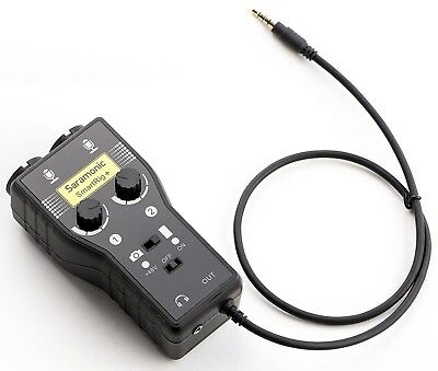Saramonic SmartRig+ 2-Channel XLR/3.5mm Microphone Audio Mixer iOS Android NEW!