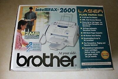 Brand New Brother intelliFAX-2600 Laser Fax Machine