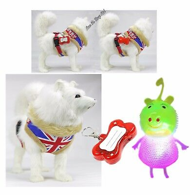 Dog Harness Vest, Puppy Harness Vest,Adjustable Harness With Flashing & pig Doll