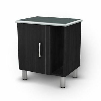 South Shore Furniture Night Stand, Cosmos Collection, Black Onyx and Charcoal
