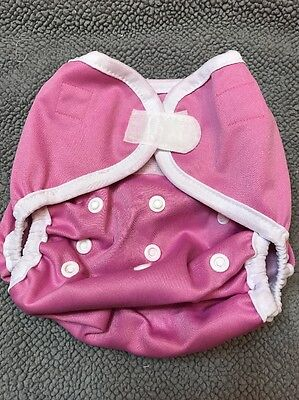 New Kawaii Happy Leak Free OS Diaper Cover Snap - Pink