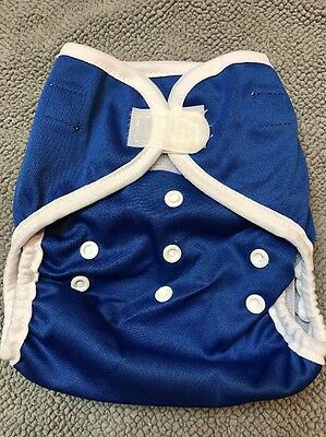 New Kawaii Happy Leak Free OS Diaper Cover Snap - Dark Blue