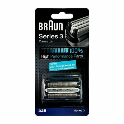 Braun Series 3 Electric Shaver Replacement Foil and Cutter Cassette - 340S4 380S