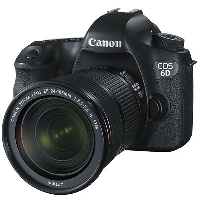 Canon EOS 6D DSLR Camera with EF 24-105mm f/3.5-5.6 IS STM Lens