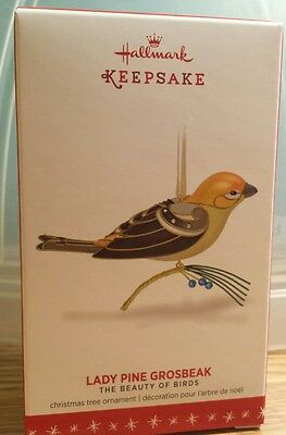 Lady Pine Grosbeak 2016 Hallmark Limited Edition Ornament - Beauty of Birds 12