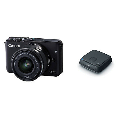 Canon EOS M10 Mirrorless Digital Camera with 15-45mm Lens (Black) & Connect Sta