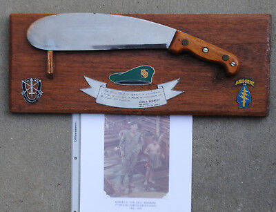 Special Forces Presentation Bolo Knife w/ Picture