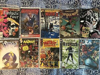 HUGE Lot Of 50 Silver, Bronze And Modern Age Comic Books