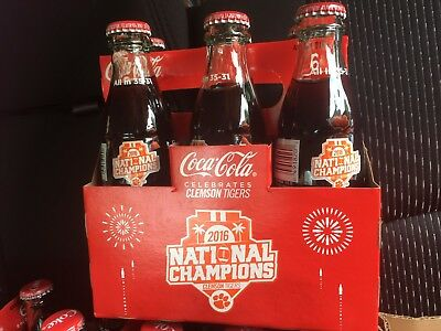 2016 Coca-Cola Special Edition Clemson National Championship 6-pack w/ Carrier