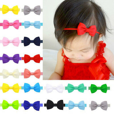 Newborn Baby Kids Girls Cute Mini Bowknot Hairband Elastic Headband Accessories