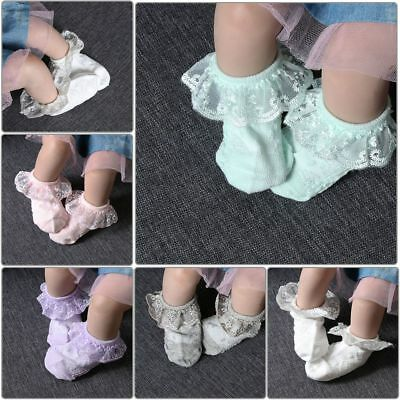 Sweet Baby Lace Sock Girls Tight Newborn Spanish Knitted Cotton Blend Ankle Sock