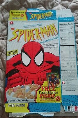 Ralston Foods Spiderman Cereal Box 1995