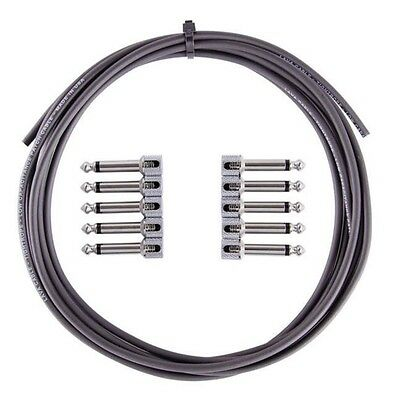 Lava Cables TIGHTROPE Solder-Free Pedalboard Kit - 10' BLACK + 10 R/A plugs