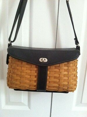 "Gently Used Longaberger retired 2004 ""Hostess""SIGNATURE Shoulder Basket Purse"