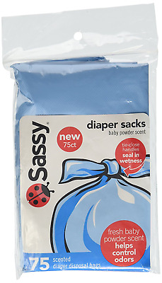 Sassy Disposable Scented Diaper Sacks, 75 Count