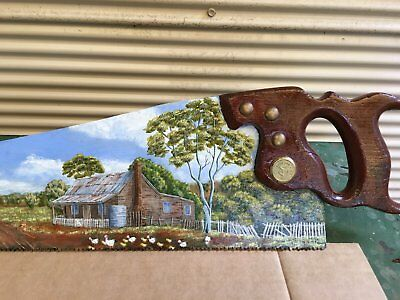 Hand Painted Vintage Saw - Australiana