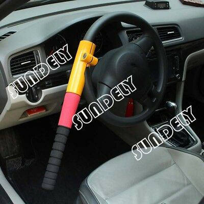 Universal Heavy Duty Anti Theft Car Fast Van Steering Wheel Lock Security Crook