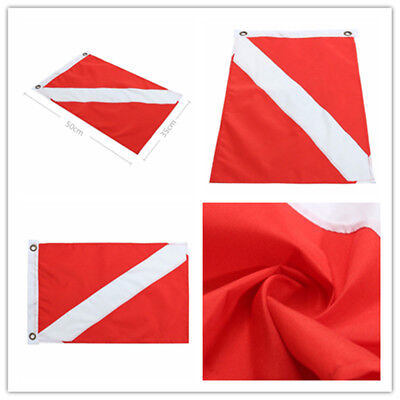 1pc Big Diver Down Boat Pennant Flag Scuba Diving Banner International Sign Mark