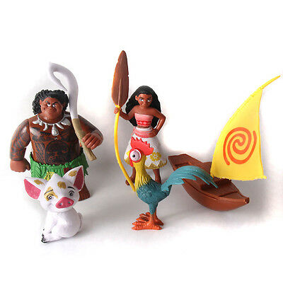 Moana Princess and Friends Toys Figurine Cake Topper x 5pcs