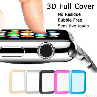 For Apple Watch iWatch Series 1/2 Tempered-Glass Screen Protector Case Cover D4