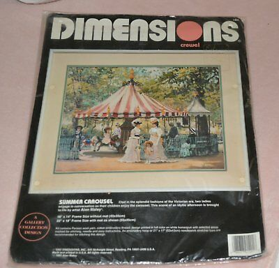 Dimensions Embroidery Crewel 'summer Carousel' Kit