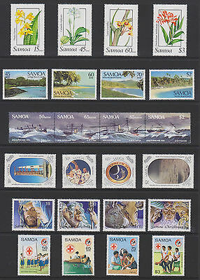 Samoa - Sets from the 80's + 90's - 40 MUH Stamps (2 scans)