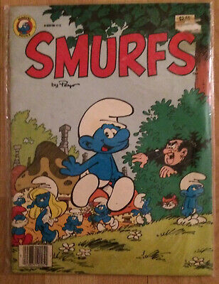 Vintage 1982 Marvel Treasury Edition Oversized Smurfs Comic Book 0-939766-17-5