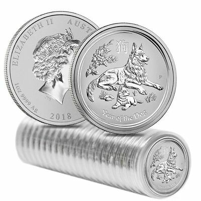 2018 Australia 1 oz Perth Mint Lunar Silver Year of the Dog .999 - NOW SHIPPING!