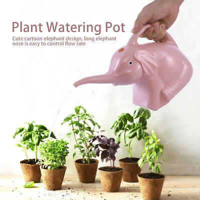 Lovely Elephant Shape Plastic Watering Can Pot Garden Plant Flower Irrigation
