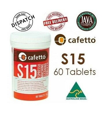 Cafetto S15 60 Tablets Espresso Machine Professional Cleaning  Back Flush Coffee