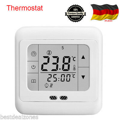 neu digital lcd raumregler fu bodenheizung thermostat. Black Bedroom Furniture Sets. Home Design Ideas