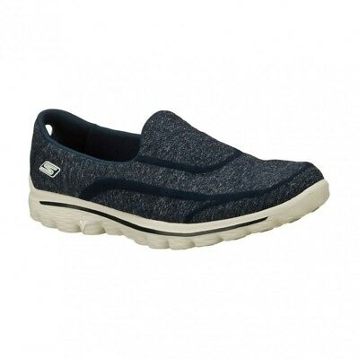 Skechers Go Walk 2 Super Sock 2 Navy Grey Women's Slip On Shoes