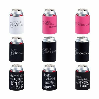 Wedding Stubby Holder Can Cooler Favour Bridal Party Gift Groom Bride Bucks Fun