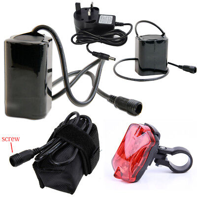 18650 8.4V Rechargeable Battery Pack For Cree T6Bicycle Bike Light Charger Scerw