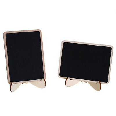 10Pcs Mini Blackboards Chalkboards Place Cards Message Signs Wedding Party Funny