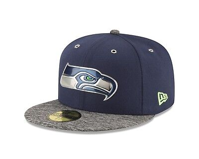 Adults 7.25 Seattle Seahawks New Era 59FIFTY On Stage 2016 Draft Fitted Cap M157