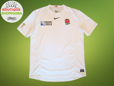 ENGLAND HOME 20011 (M) Rugby Union RUGBY WORLD CUP 2011 Rugby Shirt Jersey