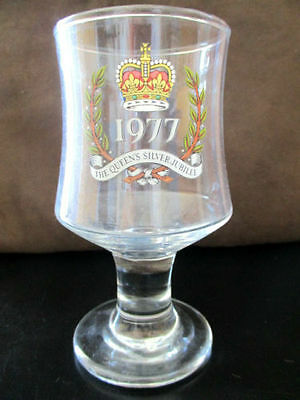 The Queen's Silver Jubilee 1977  8 oz Wine Glass