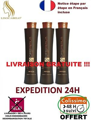 Kit Complet 3X100ml Lissage Brésilien Honma Tokyo All Liss Premium Coffee