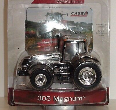 """CASE 305 MAGNUM """"CHROME"""" TRACTOR """"25th ANNIVERSARY"""" MODEL DIECAST SCALE 1/64"""