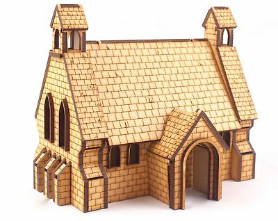 MDF Church by WWS - 28mm Wargames Warhammer 40k Bolt Action Age of Sigmar