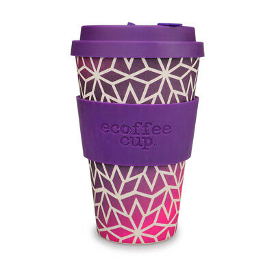 Ecoffee Cup Stargrape with Dark Purple Silicone 14oz Ecofriendly Reusable Travel