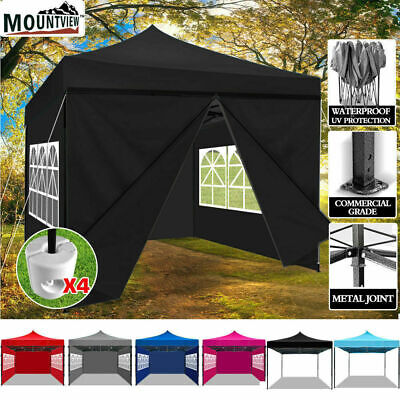 3x3m Pop Up Gazebo Marquee Canopy Folding Tent Outdoor Event Camping & Base Pods