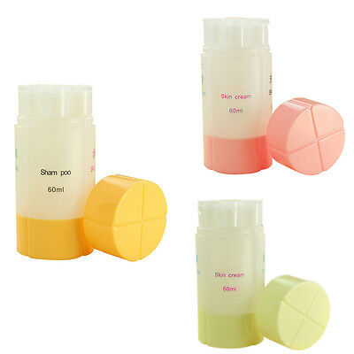 60ml Travel Type Packing Empty Bottle 4 in 1 shampoo shower gel Lotion Container