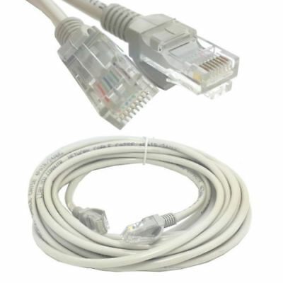 10m 32ft Long Ethernet Cable CAT 5e RJ45 Network Router Internet Cable Cord Grey