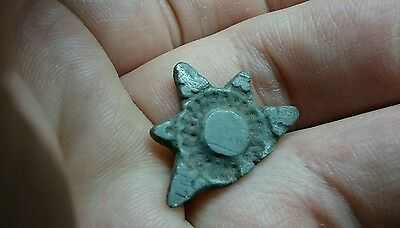 Beautiful Roman Silver sun Pendant with loop missing still a lovely artifact L56
