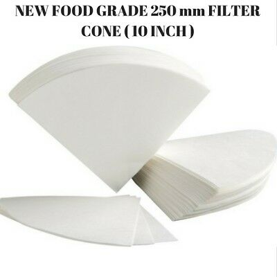 75 Pcs Oil Filter Cones Paper 10 Inch Regular - 250 Mm Chip Cone For Deep Fryer