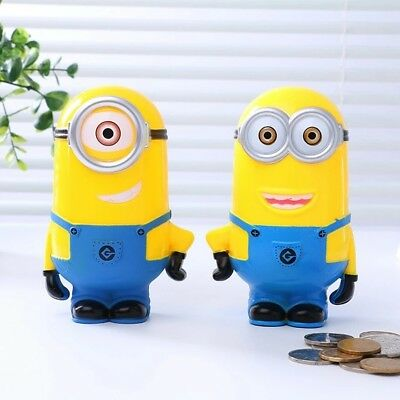 Kids MINION MONEY BOX, Despicable Me Piggy Bank, Coin Bank, 2 PC. Set